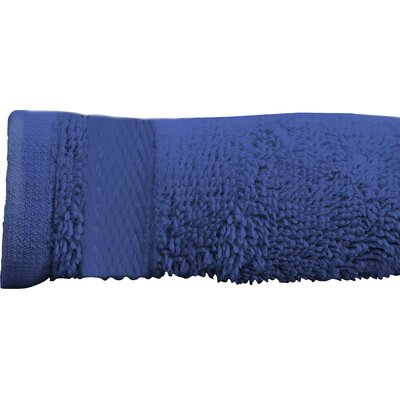 Sandra Venditti Bath Sheet 2 Piece Towel Set Color: Navy