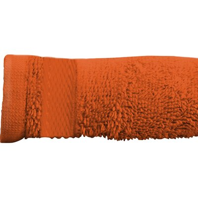 Sandra Venditti Bath Sheet 2 Piece Towel Set Color: Tangerine