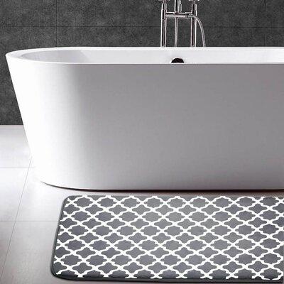 Carole Memory Foam Bath Mat Color: Charcoal