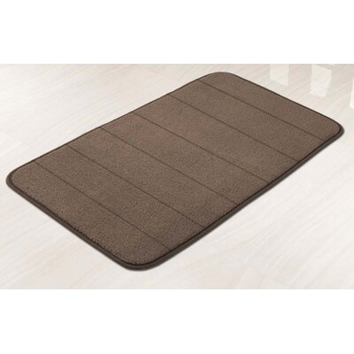 Memory Foam Bath Mat Color: Chocolate
