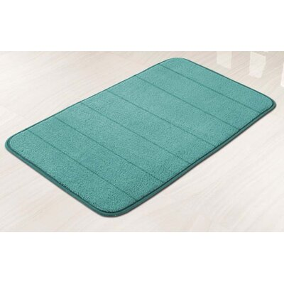 Memory Foam Bath Mat Color: Aqua