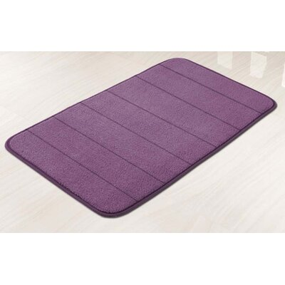 Memory Foam Bath Mat Color: Plum