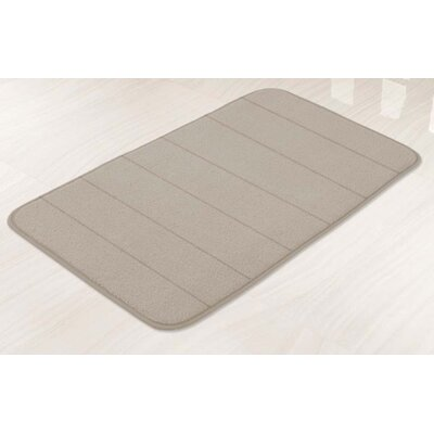 Memory Foam Bath Mat Color: Taupe