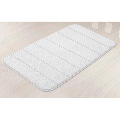 Memory Foam Bath Mat Color: White