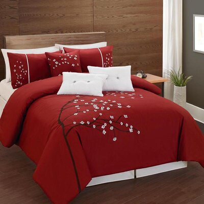 Germana Cotton 6 Piece Reversible Comforter Set Size: Queen