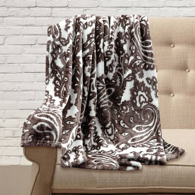 Carnlough Polyester Throw Color: Chocolate