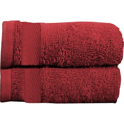 Sandra Venditti Bath Towel 2 piece Towel Set Color: Red