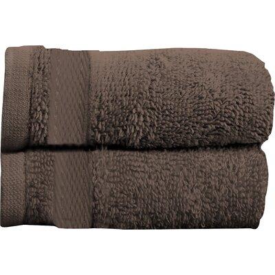 Sandra Venditti Bath Towel 2 piece Towel Set Color: Chocolate