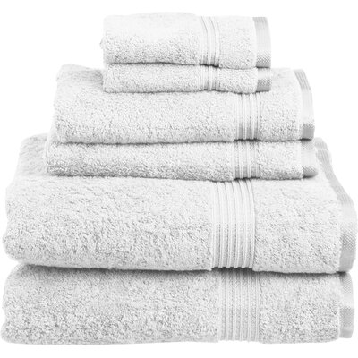 Sandra Venditti 6 Piece Towel Set Color: White