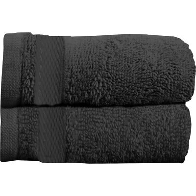 Sandra Venditti Bath Towel 2 piece Towel Set Color: Black