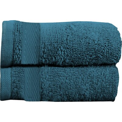 Sandra Venditti Bath Towel 2 piece Towel Set Color: Teal