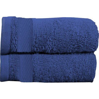 Sandra Venditti Bath Towel 2 piece Towel Set Color: Navy