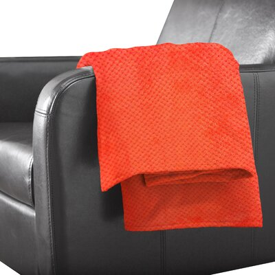 Tracy Polyester Throw Color: Orange