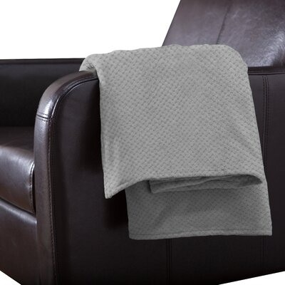 Adrien Lewis Polyester Throw Color: Grey
