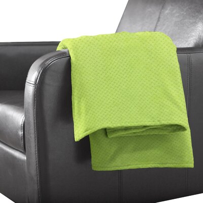 Tracy Polyester Throw Color: Lime