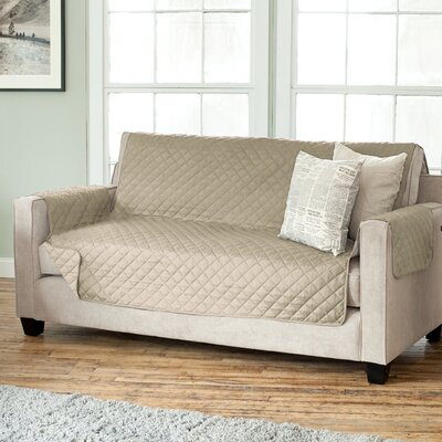 Carnside Diamond Polyester Sofa Slipcover Finish: Taupe