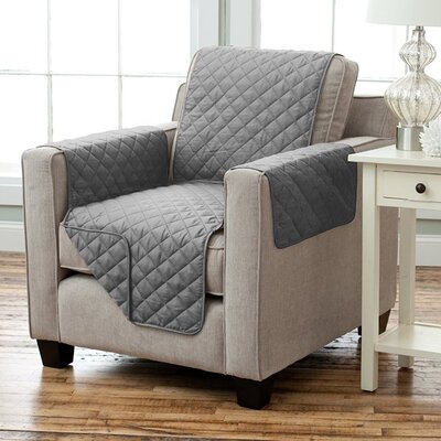 Carnside Diamond Polyester Armchair Slipcover Finish: Gray