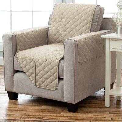 Carnside Box Cushion Armchair Slipcover Finish: Taupe