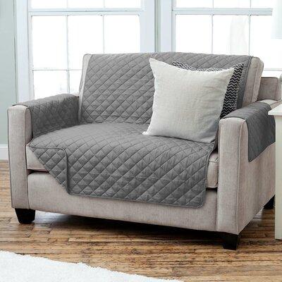 Lauren Taylor Diamond Quilt Polyester Loveseat Slipcover Finish: Gray