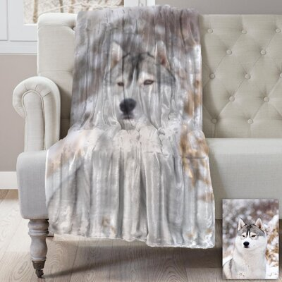Lauren Taylor Husky Wildlife Micromink Throw