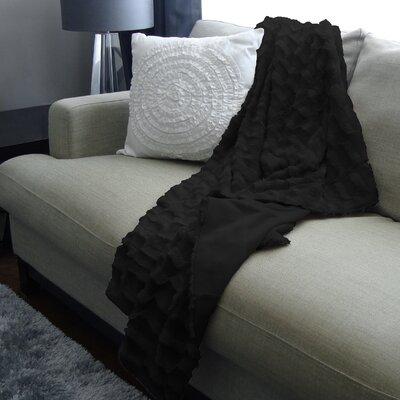 Boyce Polyester Throw Color: Black