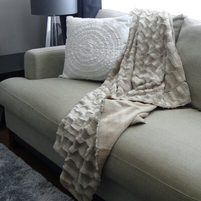 Adrien Lewis Polyester Throw Color: Tawny