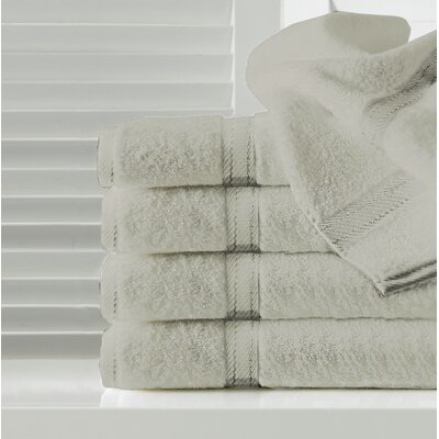Sandra Venditti Hand Towel 5 Piece Towel Set Color: Stone