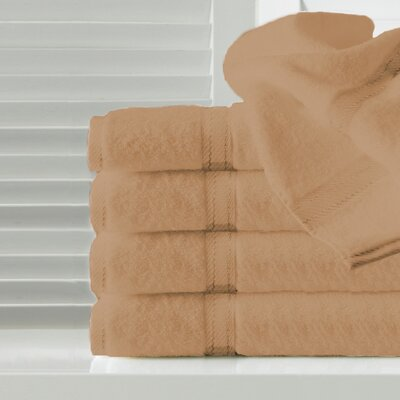 Sandra Venditti Hand Towel 5 Piece Towel Set Color: Burnt Orange