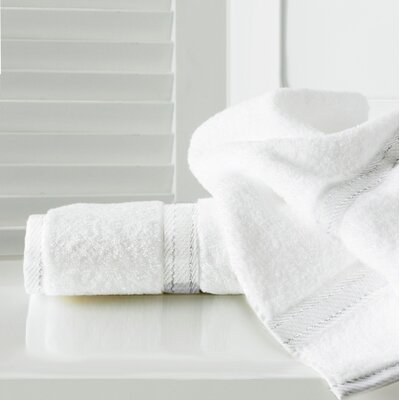 Sandra Venditti Bath Sheet 2 Piece Towel Set Color: White