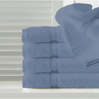 Sandra Venditti Hand Towel 5 Piece Towel Set Color: Seafoam
