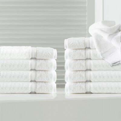 Sandra Venditti 10 Piece Washcloth Color: White
