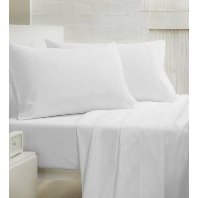 400 Thread Count 100% Cotton Sheet Set Size: Queen, Color: White