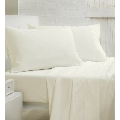 400 Thread Count 100% Cotton Sheet Set Size: Full/Double, Color: Off-White