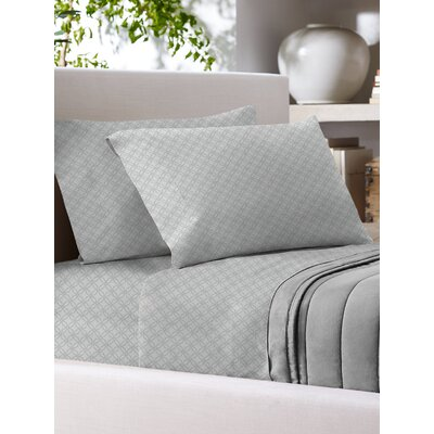 Sandra Venditti 700 Thread Count Sheet Set Size: Queen, Color: Gray