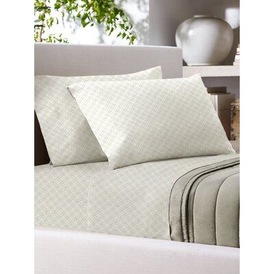 Sandra Venditti 700 Thread Count Sheet Set Size: King, Color: Ivory