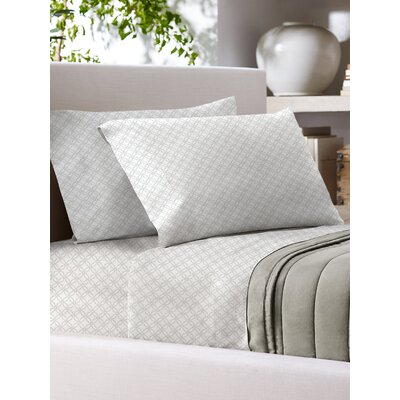 Sandra Venditti 700 Thread Count Sheet Set Size: Full/Double, Color: White