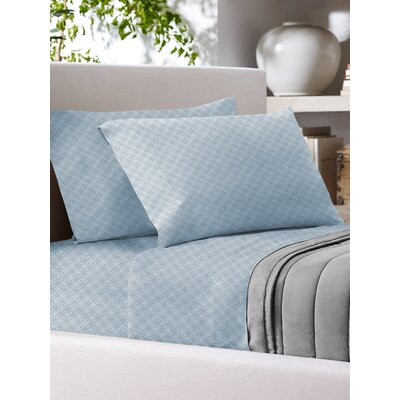 Sandra Venditti 700 Thread Count Sheet Set Size: King, Color: Blue