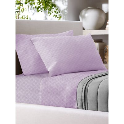 Sandra Venditti 700 Thread Count Sheet Set Size: Full/Double, Color: Mauve