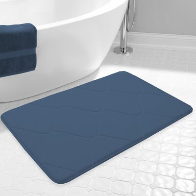 Carnside Bath Rug Color: Denim