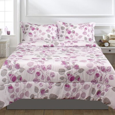 Howard 3 Piece Comforter Set Size: Full/Double, Color: Lavender