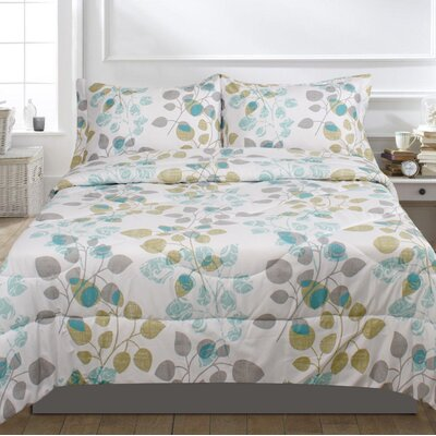 Lauren Taylor 3 Piece Comforter Set Size: Queen, Color: Aqua