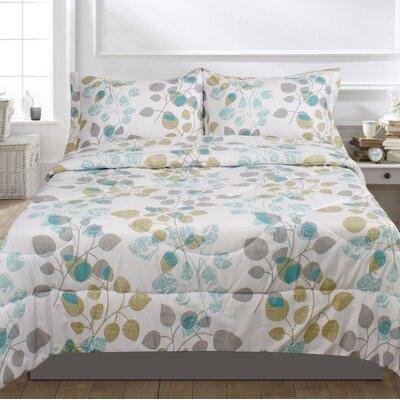 Howard 3 Piece Comforter Set Size: Queen, Color: Aqua