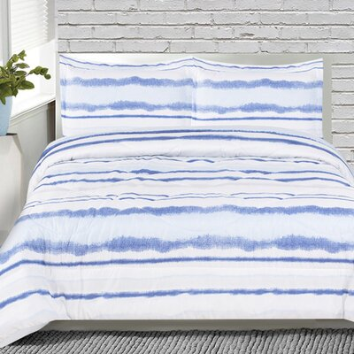 Howard 3 Piece Striped Comforter Set Size: King