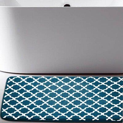 Osmond Flannel Memory Foam Bath Rug Color: Teal