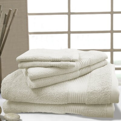 W Home 6 Piece Bamboo Spa Towel Set Color: Ivory