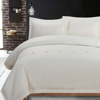 Lauren Taylor 3 Piece Duvet Cover Set Size: Queen, Color: White
