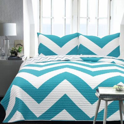 Lauren Taylor 2 Piece Coverlet Set Size: King