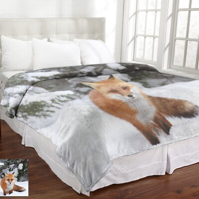 Lamentin Animal Micromink Fox Blanket