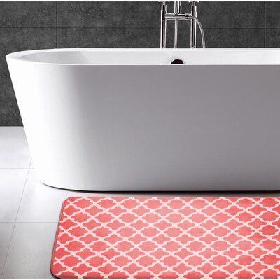 Osmond Flannel Memory Foam Bath Rug Color: Coral