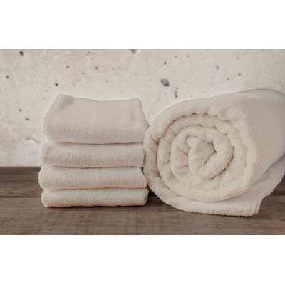 W Home Rayon from Bamboo Spa Washcloth Color: Ivory